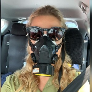 Create meme: protective mask, children in gas mask, ecology the mask