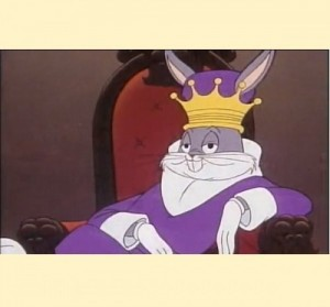 Create meme: memes with a crown, the king meme, bugs Bunny is the king of meme