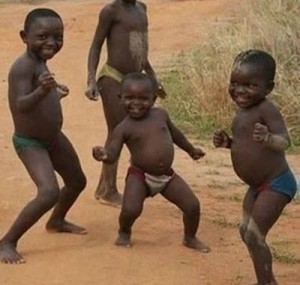 Create meme: African child, dancing black baby meme, the little Indians dancing