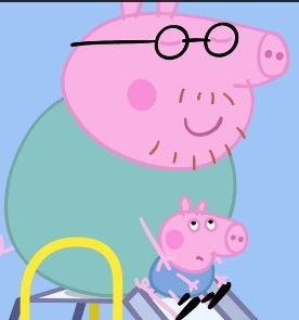 Create meme: 18 daddy pig George