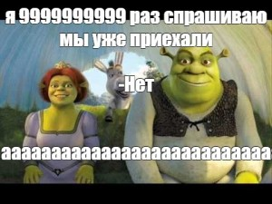 Create meme: Fiona Shrek, Shrek are we there photo, Shrek we're here
