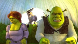 Create meme: Shrek Fiona , Shrek Fiona and donkey, Shrek we came