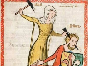 Create meme: the dark ages, paintings of the middle ages, medieval pictures of fun hair