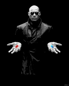 Создать мем: red pill, blue pill, морфеус выбор