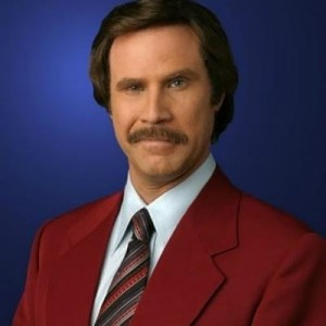 Создать мем: anchorman, ron, will ferrell