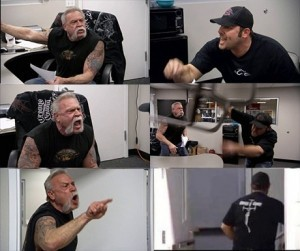 Создать мем: american chopper мемы, american chopper meme, american chopper argument мем