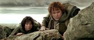 Create meme: the lord of the rings frodo, the lord of the rings the two towers , the Lord of the rings Frodo and Sam