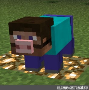 Create Meme The Head Of The Pig From Minecraft Discotrash
