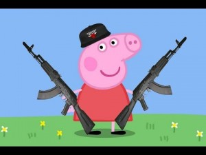 Create meme: Pig Gangster