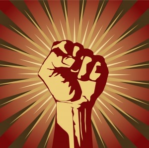 Create meme: the clenched fist symbol, the emblem of a clenched fist, fist up communism