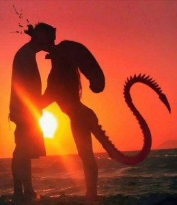 Create meme: a kiss at sunset picture, kiss at sunset images, a couple kiss at sunset