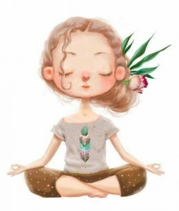 Create meme: yoga for children, yoga girl, cute cartoon