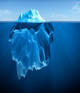 Create meme: the deep web , the size of the iceberg under water, iceberg of stereotypes