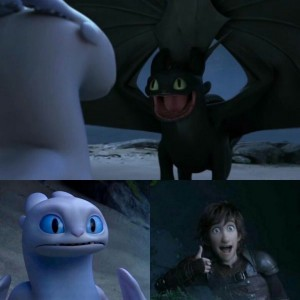 Create meme: drawn character, toothless and day fury, How to train your dragon 3