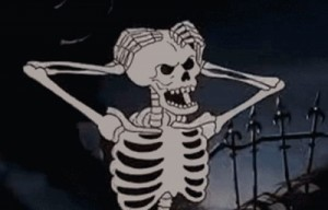 Создать мем: skeleton, spooky, the skeleton
