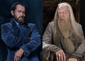 Create meme: Jude law in the role of Dumbledore photo, grindelwald, fantastic beasts 2