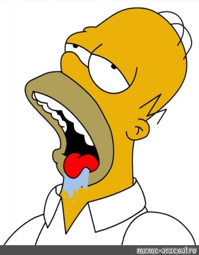 Meme Homer Simpson The Simpsons Homer Simpson Drooling All