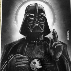 Создать мем: three darth vader drawing, иисус дарт вейдер, дарт вейдер икона