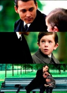 Create meme: what do you wanna be when you grow up, meme with johnny Depp and the boy, the boy whom you want to become
