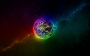 Создать мем: Земля в радуге