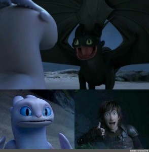 Create meme: stoned toothless, to train your dragon 3, toothless and day fury photos