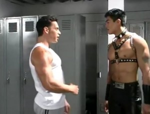 Создать мем: van darkholme, gachimuchi ukrainian version текст, boss of this gym 18+
