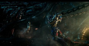 Создать мем: Peter-cullen-and-gemma-chan-in-transformers-the-last-knight-2017