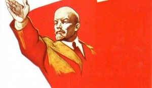 Create meme: forward comrades, our goal communism poster, the world of work in may Lenin