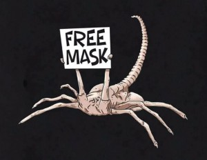 Create meme: packager, face-crab thing free hugs, facehugger