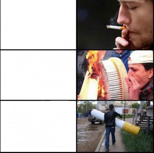 Create meme: rzhachnye pictures about cigarette, the best memes , fun