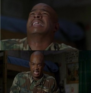 Create meme: major Payne I can't feel my legs, major Payne pictures, major Payne meme