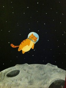 Create meme: Space Cats, cat astronaut , animals in space