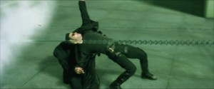 Create meme: matrix dodges bullets, frame from the movie matrix, matrix neo dodges bullets