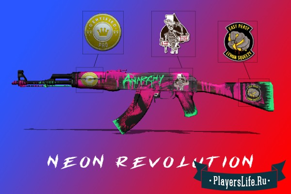 Create Meme Ak 47 Neon Racer Wallpaper The Skin On The Ak
