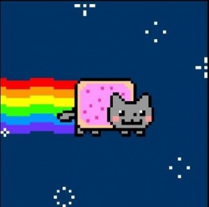 Создать мем: nyan cat, cat music, cat meme