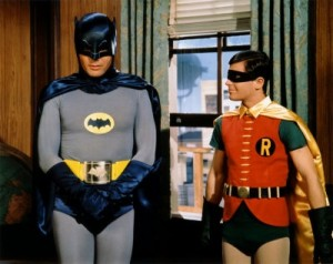 Create meme: sign Robin and Batman, superhero , Batman 1966 120