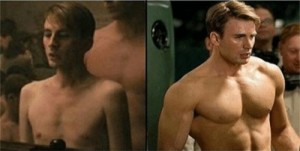 Create meme: Chris Evans , chris evans captain america , captain America before and after photos