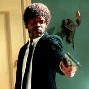Создать мем: Jules Say What Again, samuel l jackson pulp fiction, say what again