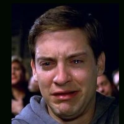 Image result for peter parker crying