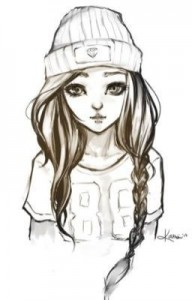 Создать мем: tumblr girl drawing, easy drawing, cute drawings