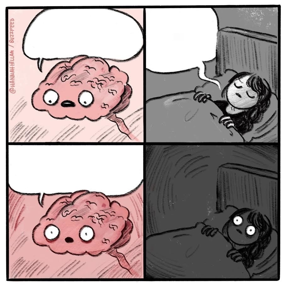 Create comics meme comic book thoughts before you sleep are you sleeping the brain at night to eat