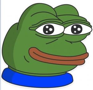 Создать мем: стикеры пепе, лягушонок пепе улыбается, pepe the frog