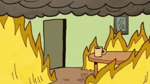 Create meme: this is fine fire, dog in the burning house meme, meme dog in a burning house