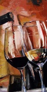Create meme: a glass of wine oil painting, paintings by victor bauer fireplace and glass of wine, artist Victor Bauer, wine
