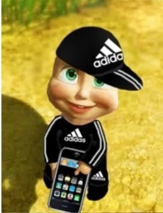 Create meme: Hello what happened to the money, Masha and the bear in adidase, Cartoon
