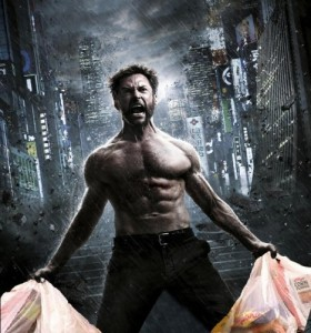 Create meme: Wolverine with packages