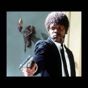 Создать мем: I dare you! I double dare you motherfucker!, samuel l jackson pulp fiction, english motherfucker do you speak it