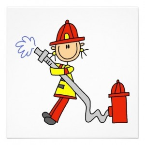 Создать мем: firefighter, stick figure, put out