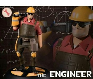 Создать мем: игрушки tf2 engineer, red engineer из тим фортресс, tf2 blu engineer