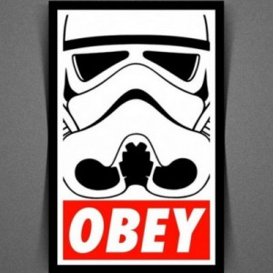 Создать мем: star wars stickers, obey, arc troopers - obey